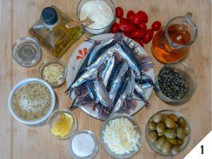 ingredienti tortino di alici