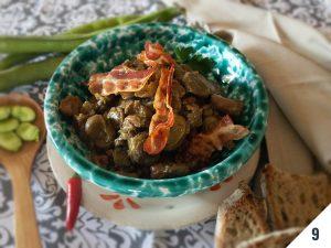 Fave con cipollotti e pancetta