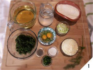 ingredienti frittelle con finocchietto