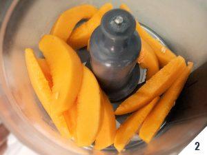preparazione gelato al melone
