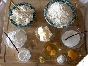 ingredienti frolla di ricotta
