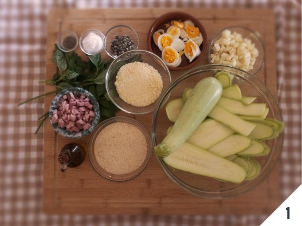 ingredienti parmigiana di zucchine - calabria nel piatto