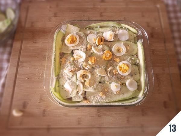 preparazione parmigiana di zucchine - calabria nel piatto
